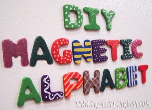 cover photo - DIY Magnetic Alphabet